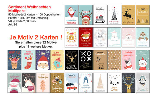 Sortiment Weih. Multipack (Art. 96)